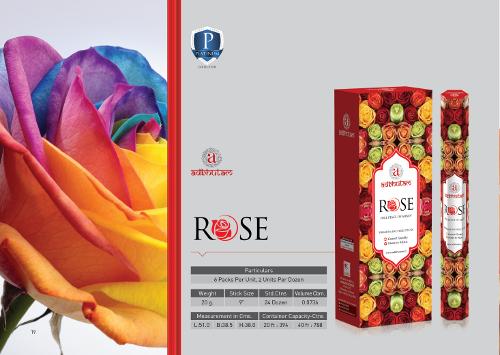 Palillos perfumados del incienso de Rose