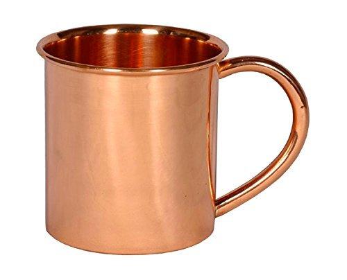 Copper Straight Mug Plain 14 Oz