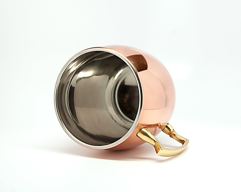Copper Barrel Mug Plain with Nickle 16 Oz