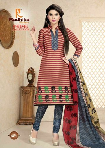 Radhika Cotton Printed Dress Material