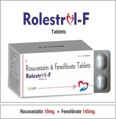 Rosuvastatin 10mg. + Fenofibrate 145mg.   Tablets