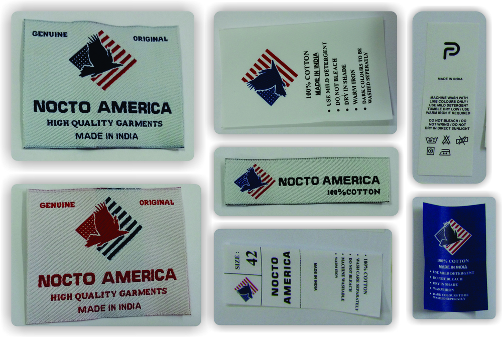 Leather, Fabric, Woven Labels