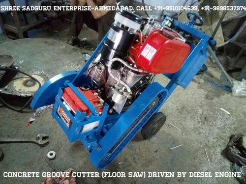 Concrete Groove Cutting Machine (Diesel Engine Drive)