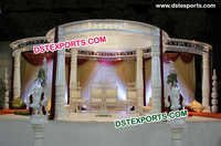Wedding Fiber Lotus Mandap