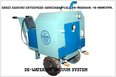 De-watering vacuum systems