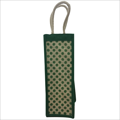 Cotton Handle Jute Wine Bag