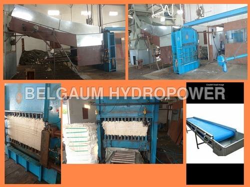 Automatic Feeding Of Manual Baling Press