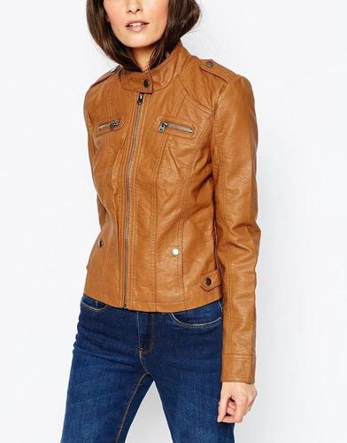Ladies Brown Leather Jackets
