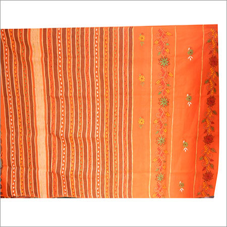 Katha Stitch Saree
