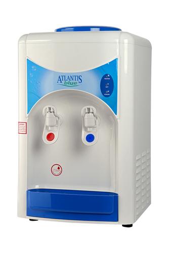 White Atlantis Blue Hot & Cold Table Top Water Dispenser