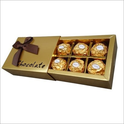 Golden Chocolate Packaging Boxes