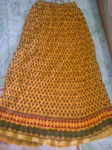 Printed Cotton Wrap Around Skirt