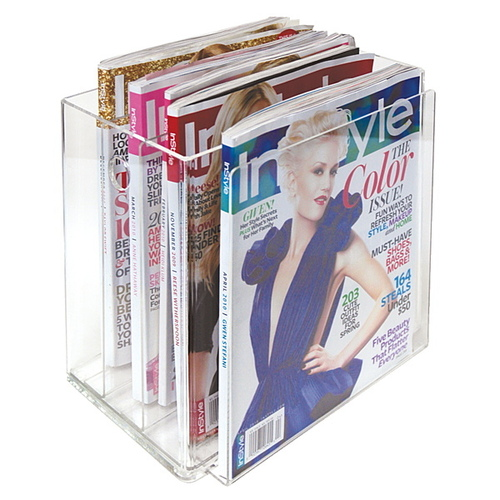 Acrylic Clear Magazine Holder