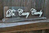 Blank Acrylic Name Plate