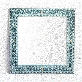 Square Blue Inlay Mirror
