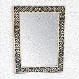 Black & White Inlay Mirror