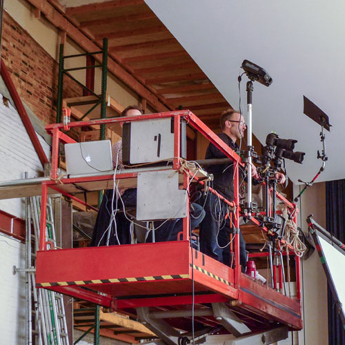 Scissor Lift for Film Shooting