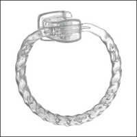 Towel Ring Twisted Rope Style