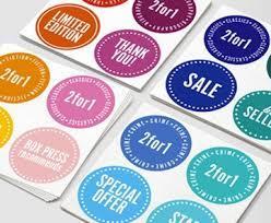Pre Gummed Printed Sticker Label
