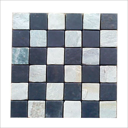 Himachal White Black Mosaic Tiles