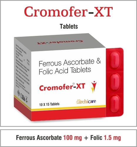 Ferrous Ascorbate 100 mg. + Folic Acid 1.5 mg.