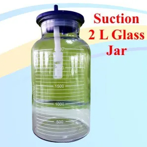 Suction 2L Glass jar with cap