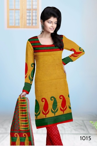 Colored Cotton Salwar Suit