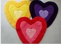 Heart Design Bath Mat