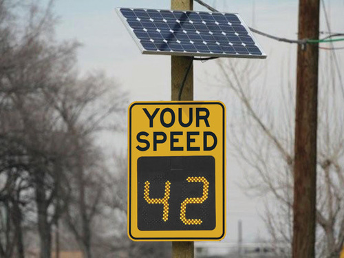 SOLAR SPEED LIMIT BOARD