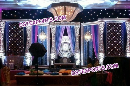 Lavish Royal Wedding Stage Set Decorations