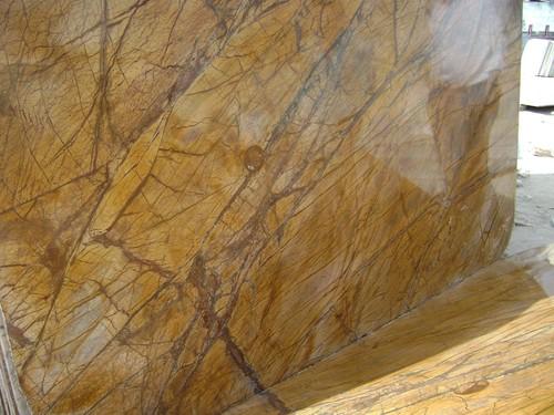 Rainforest Golden Marble Slabs