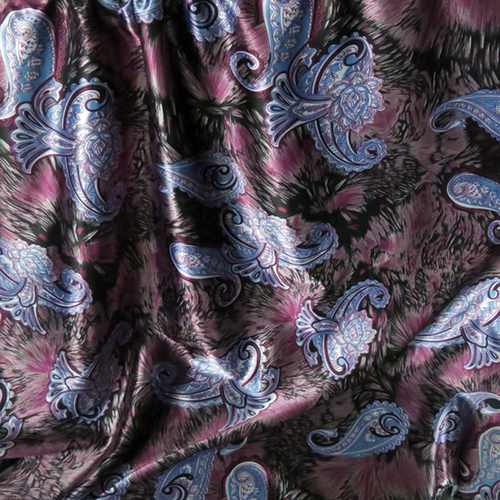 Printed Polyester Silky Satin Fabric Lining Materi