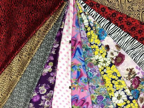 Printed Silky Satin Fabric Lining Material