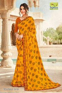 Festive Wear Designer Georgette Bandhej Saree