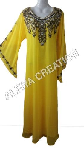 Dubai latest fancy sleeves embroidered farasha kaftan