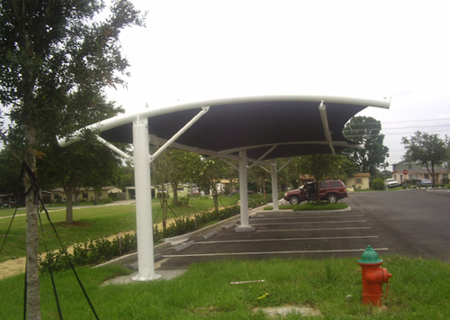 Fiber Glass Parking Shed