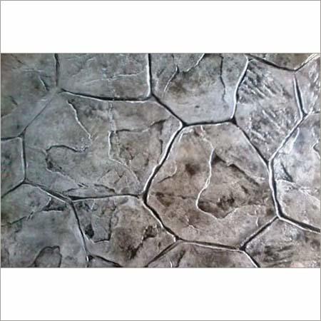 Random Stone Stamped Concrete Flooring