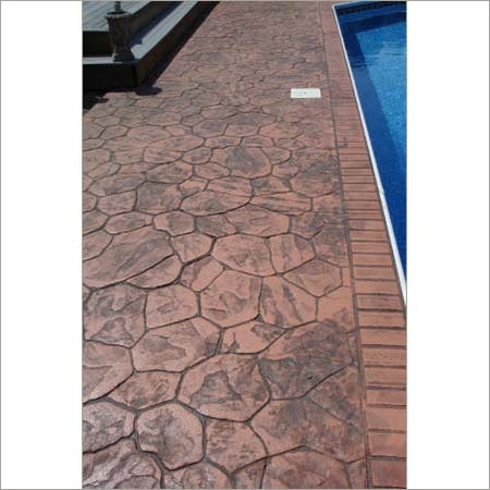 Pool Deck Stamped Concrete Flooring