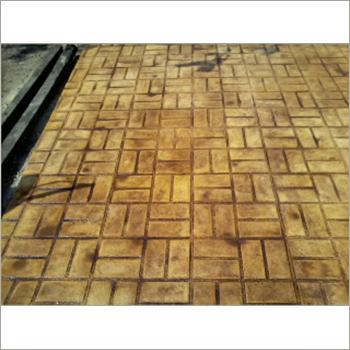 Stamped Concrete Brick Walkway