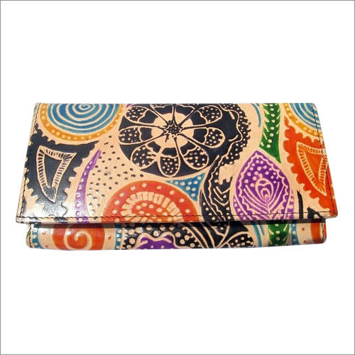 Printed Leather Hand Purse