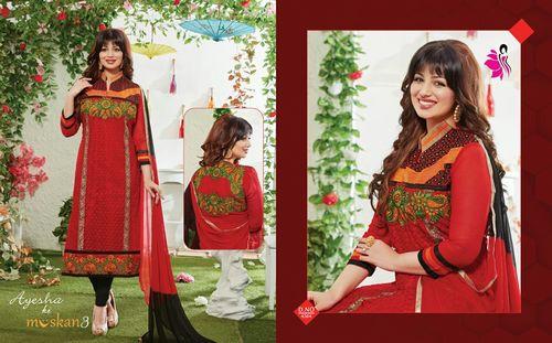 MusKan Embroidery Work Salwar Kameez Online