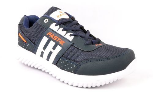 Orange & Navy Blue Sports Shoes