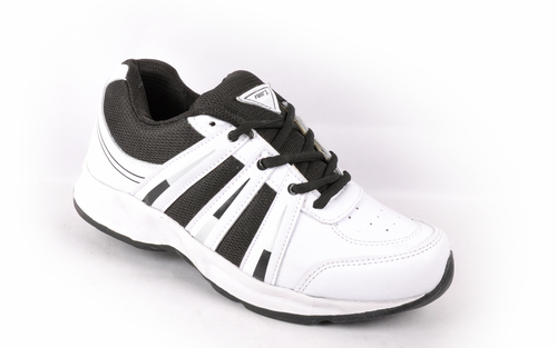 White and Black Sport Shoes
