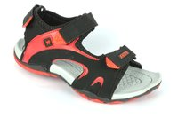 Men's Black Red Color Sandal