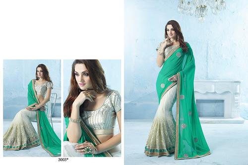 Designer hand work sarees