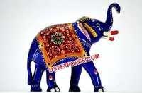 Decorative Blue Elephant Statue