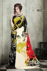 Heavy printed saree