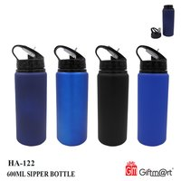 BLACK SIPPER BOTTLE 600 ML