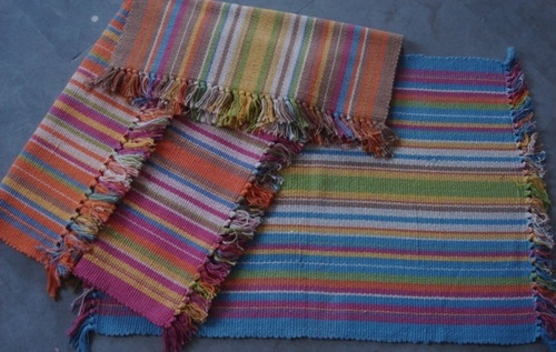 Multi Strip Handloom Durries