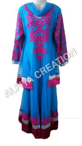 Designer look fancy long length maxi dress kaftan